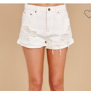KanCan white shorts, size XS. NWT